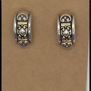 Brighton Two Tone Post Earrings